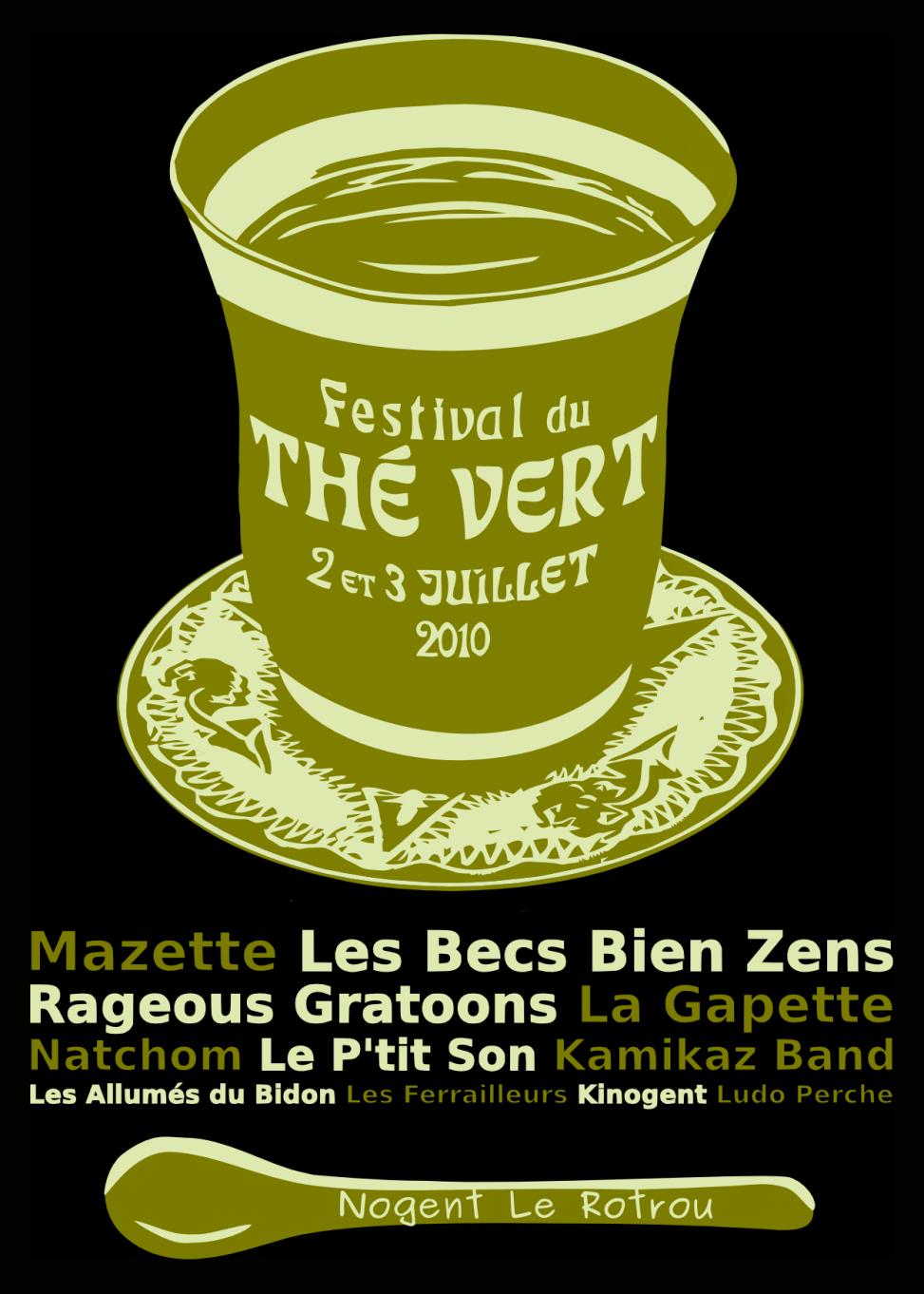 Festival du Thé Vert 2010 - Back T-Shirt