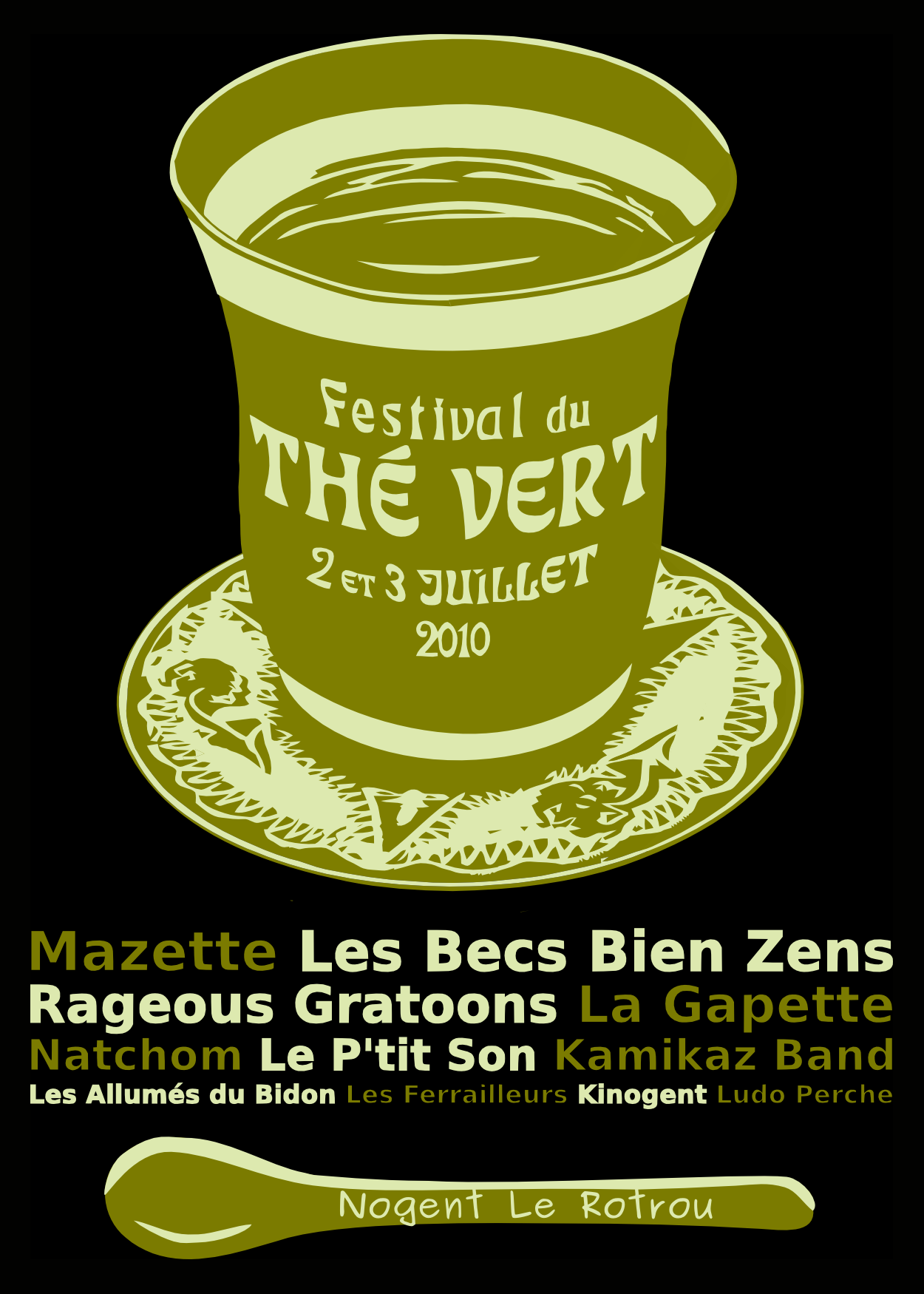 Festival du Thé Vert 2010 - T-Shirt arrière