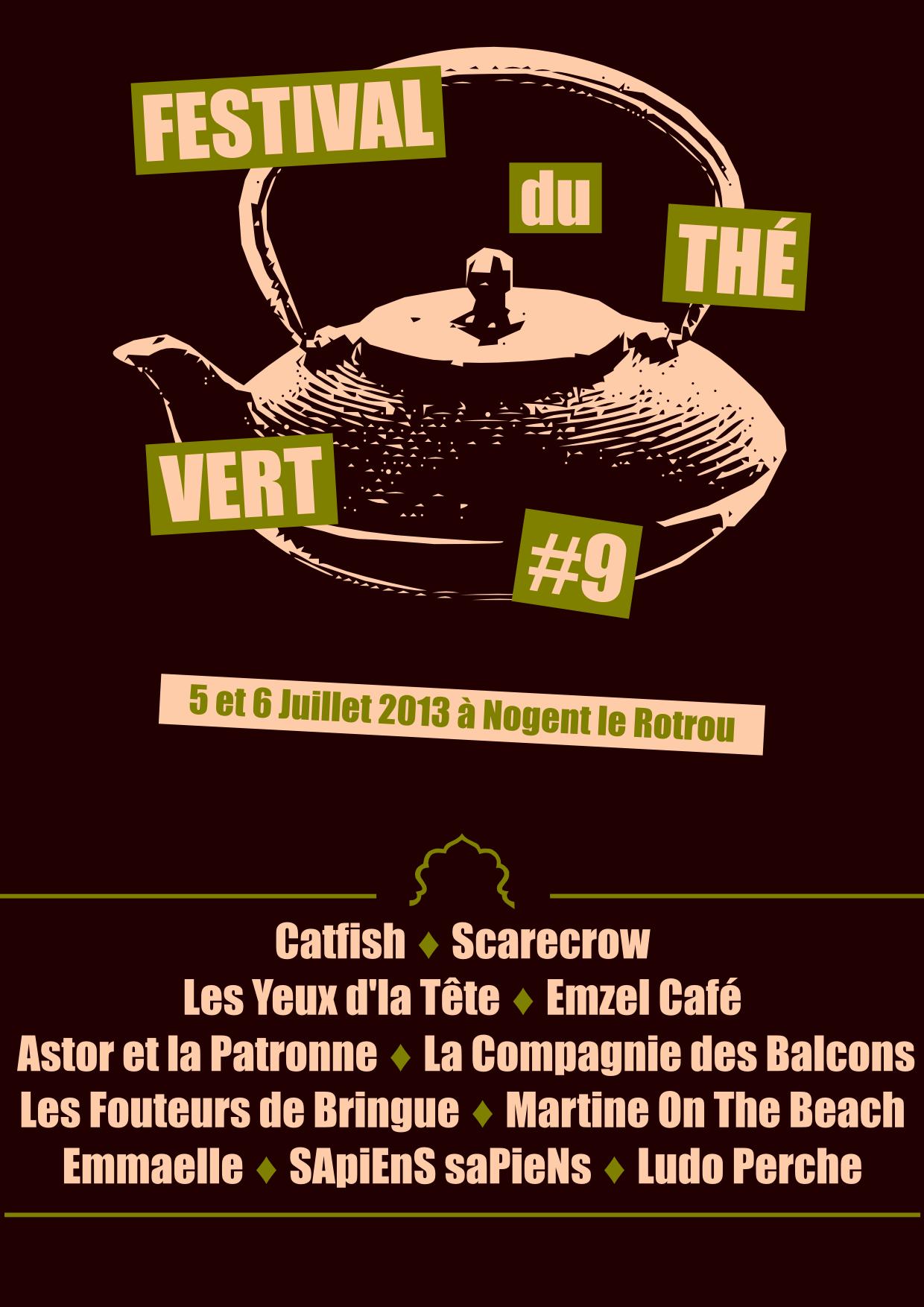 Festival du Thé Vert 2013 - Back T-Shirt