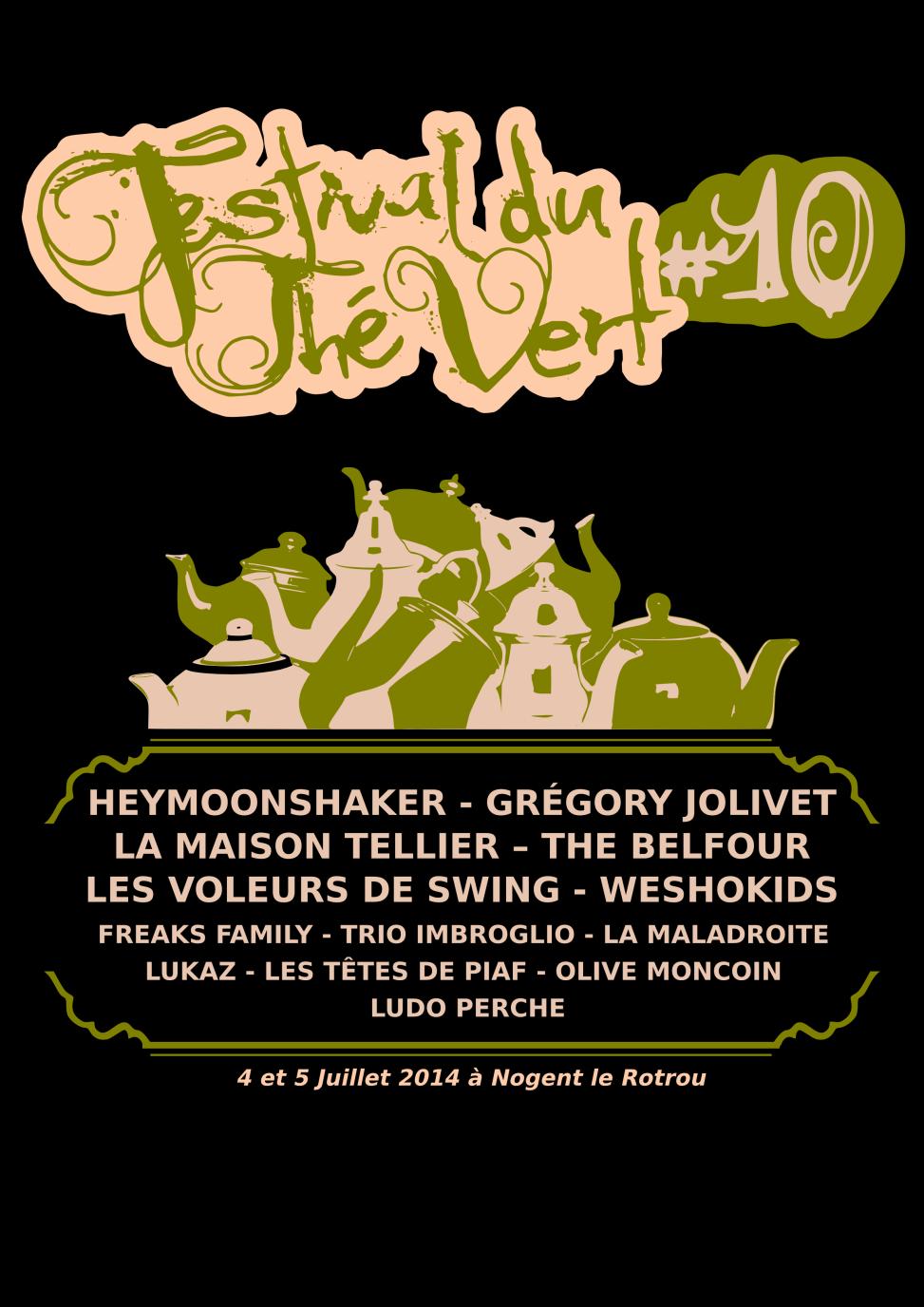 Festival du Thé Vert 2014 - Back T-Shirt