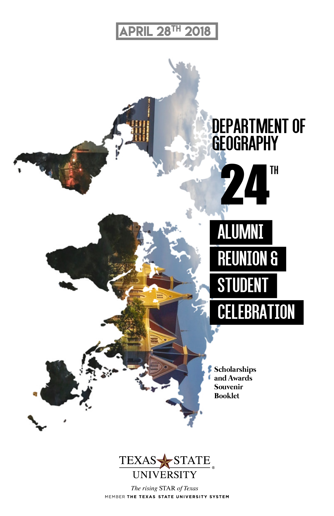 2018 Txstate Geography Alumni Reunion Brochure – Cover